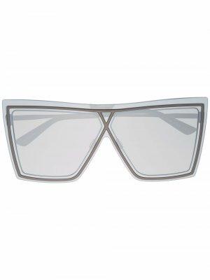 Солнцезащитные очки Ventriloquist в массивной оправе Christian Roth. Цвет: черный
