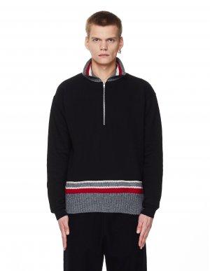 Хлопковый пуловер с молнией 3/4 Maison Margiela
