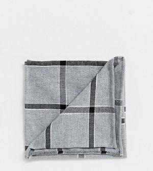 Серый платок для пиджака в клетку Noak