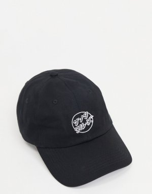 Japanese Dot cap in black-Черный цвет Santa Cruz