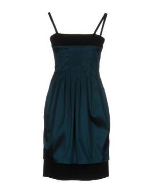 Короткое платье GIO' GUERRERI. Цвет: цвет морской волны