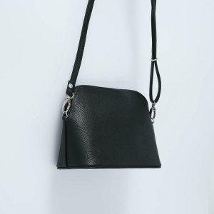 Кросс-боди, отдел на молнии, наружный карман, длинный ремень, цвет чёрный TEXTURA