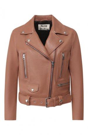 Кожаная куртка Acne Studios. Цвет: розовый