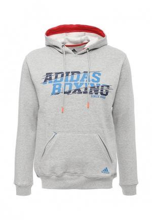 Худи adidas Combat Graphic hoody boxing. Цвет: серый