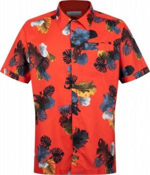 Рубашка с коротким рукавом мужская Outdoor Elements, размер 54 Columbia. Цвет: оранжевый