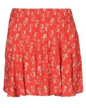 Мини-юбка ANIYE BY. Цвет: красный