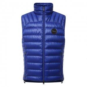 Пуховый жилет RLX Ralph Lauren. Цвет: синий
