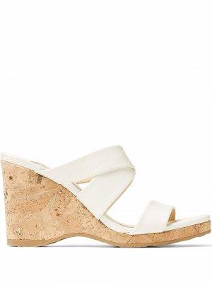 Sue 90mm wedge sandals Jimmy Choo. Цвет: белый