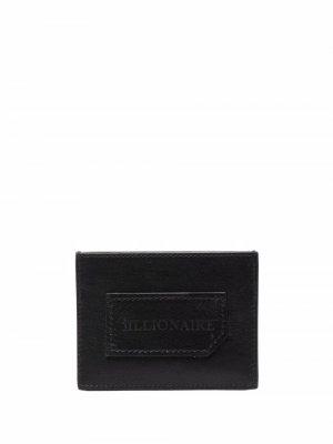 Картхолдер Institutional с тисненым логотипом Billionaire. Цвет: черный