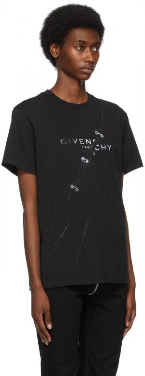 Black Trompe Lœil T-Shirt Givenchy. Цвет: 001 black