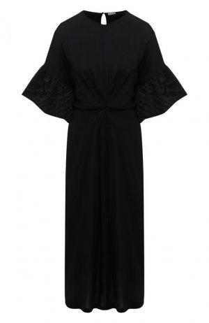 Платье-миди Loewe. Цвет: чёрный