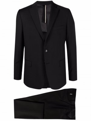 Костюм с однобортным пиджаком Low Brand. Цвет: черный