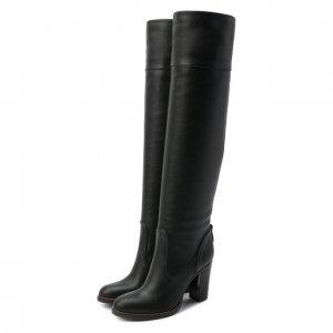 Кожаные сапоги Emma Chloé. Цвет: чёрный