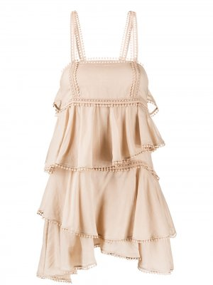 Платье Ellen с вышивкой Charo Ruiz Ibiza. Цвет: нейтральные цвета