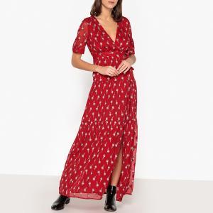 Платье длинное с принтом MADONA BA&SH. Цвет: красный,черный