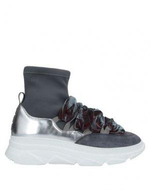 Высокие кеды и кроссовки 181 by ALBERTO GOZZI. Цвет: стальной серый