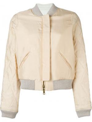 Двухсторонняя куртка-бомбер Chloé. Цвет: розовый и фиолетовый