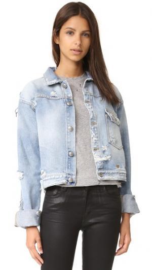 Классическая джинсовая куртка Hook R13. Цвет: brentfold light wash