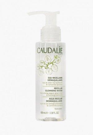 Мицеллярная вода Caudalie для снятия макияжа. Цвет: прозрачный