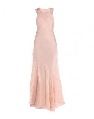 Длинное платье ANN DEMEULEMEESTER. Цвет: розовый