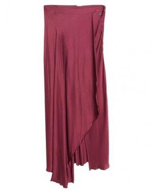 Длинная юбка DIXIE. Цвет: баклажанный