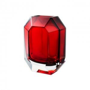 Ваза Octogone Baccarat. Цвет: красный