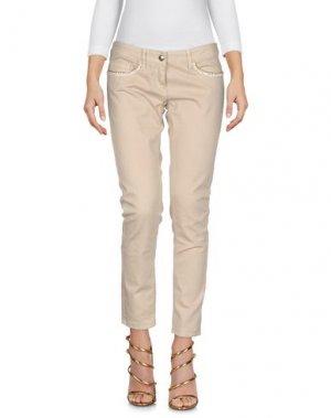 Джинсовые брюки BETTY BLUE. Цвет: бежевый