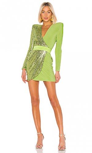 Мини платье adenine Zhivago. Цвет: зеленый