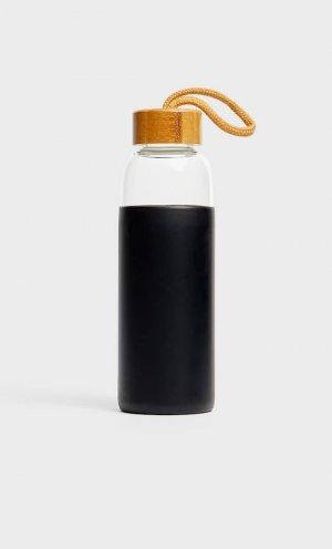Бутылка Из Силикона Женская Коллекция Черный 103 Stradivarius. Цвет: черный