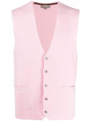 Кашемировый жилет N.Peal. Цвет: розовый