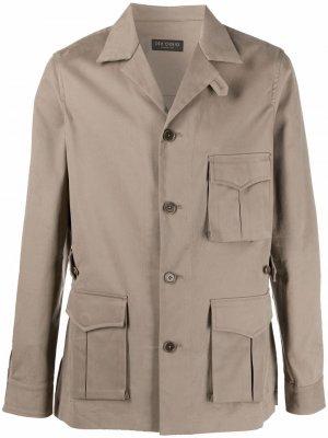 Delloglio однобортная куртка с накладными карманами Dell'oglio. Цвет: нейтральные цвета