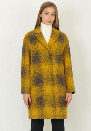 Пальто Trifo. Цвет: желтый