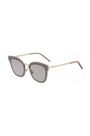 Солнцезащитные очки Jimmy Choo. Цвет: серый