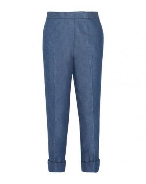 Джинсовые брюки-капри THOM BROWNE. Цвет: синий