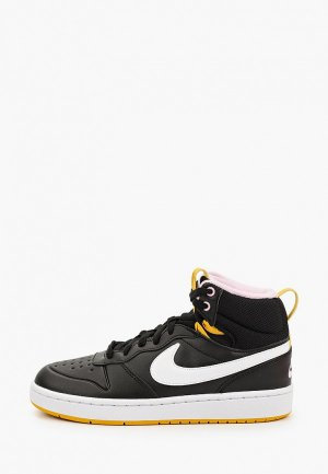 Кеды Nike COURT BOROUGH MID 2 BOOT (GS). Цвет: черный