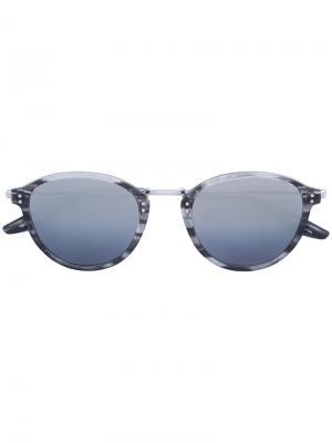 Солнцезащитные очки в круглой оправе Barton Perreira. Цвет: серый