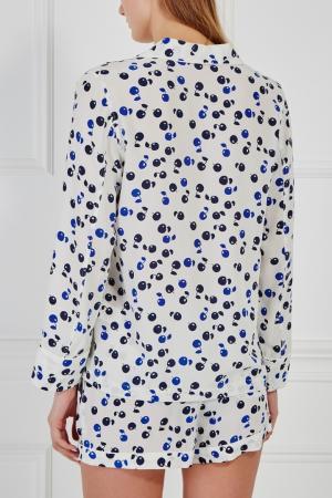 Шелковая пижама Equipment Femme. Цвет: белый