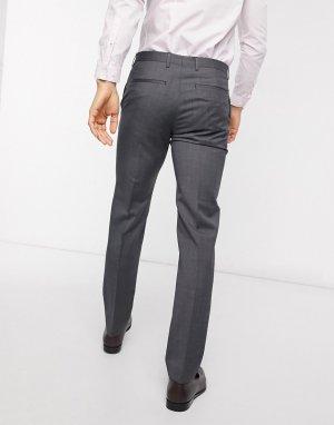 Шерстяные брюки классического кроя -Серый Tommy Hilfiger