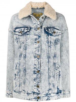 Джинсовая куртка из вареного денима Michael Kors. Цвет: синий