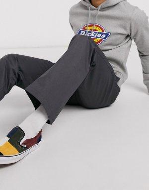 Темно-серые брюки классического кроя в рабочем стиле 874-Серый Dickies