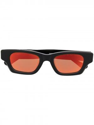 Солнцезащитные очки Ray в прямоугольной оправе AMBUSH. Цвет: черный