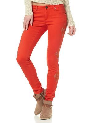 Брюки AJC. Цвет: оранжевый