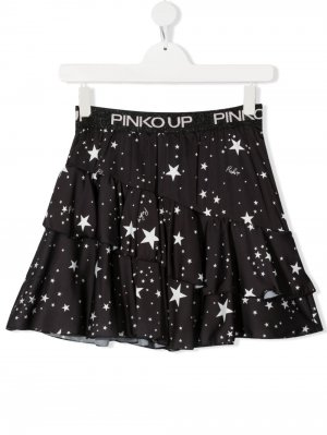 Юбка с принтом Pinko Kids. Цвет: черный