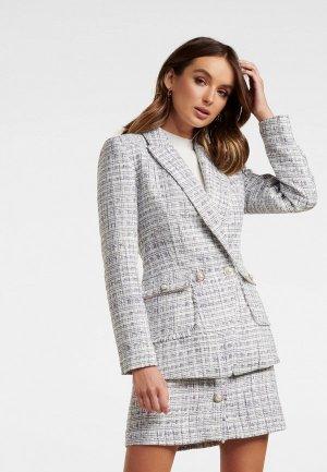 Пиджак Forever New. Цвет: серый