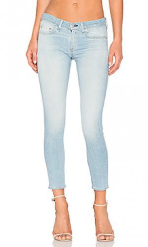 Укороченные джинсовые капри rag & bone/JEAN. Цвет: none