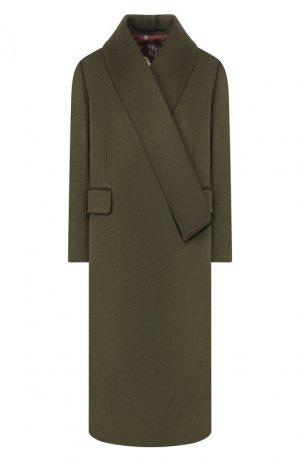 Пальто из смеси шерсти и кашемира Golden Goose Deluxe Brand. Цвет: хаки