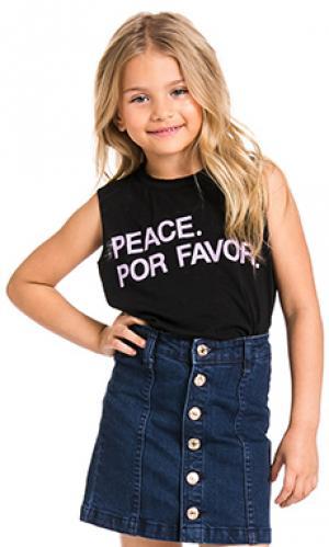 Майка peace por favor Chaser. Цвет: черный