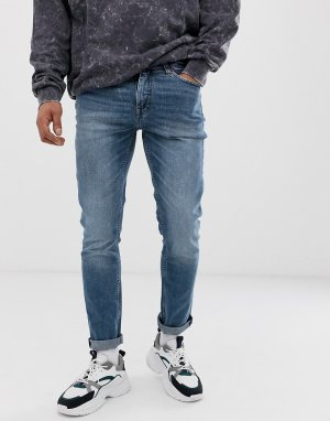 Синие джинсы слим Cheap Monday
