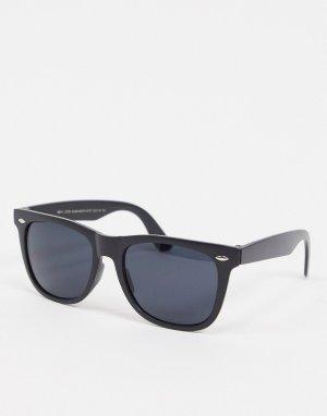 Черные солнцезащитные очки -Черный цвет New Look