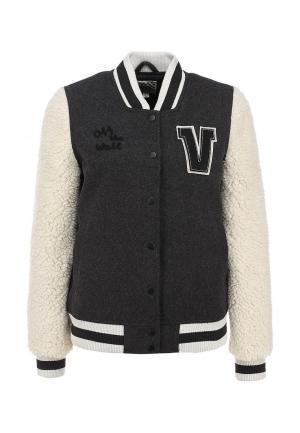 Куртка Vans G UNIVERSITY JACKET. Цвет: серый